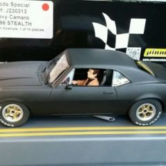PIONEER SLOT CAR J-CODE J230313 1 OF 10 MADE STEALTH CHEVY SCALEXTRIC