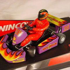 Ninco Super Kart #28 Hot Chilis Team 50239 MB slot car.