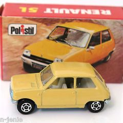 Vintage POLISTIL Renault 5 Diecast Car Model Italy RJ23 1970's Club 33 Politoys