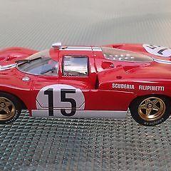 Team Ferrari 512s-Team Scudera 1970 slot racing car