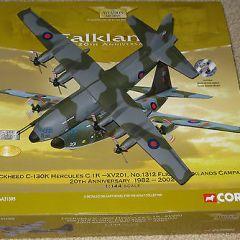 Corgi Diecast AA31305 Hercules C1K – 1312 Flt, Falklands War Limited Edition