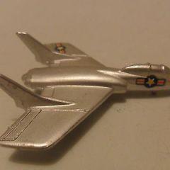 Mercury aeroplane Cutlass F7U-3 N.422 diecast like Dinky aircraft nr mint rare.