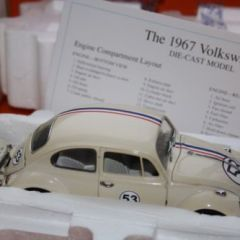 Franklin/Danbury Mint 1967 Volkswagen Herbie code 3 1:24 scale diecast car boxed