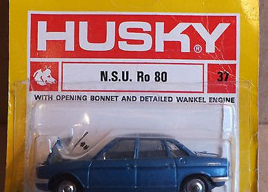 Husky Models No 37 Blue NSU Ro80, near mint die cast toy in blister pack.