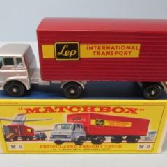 "Matchbox Major Pack 2B Bedford Cab & Trailer Orange & Maroon / ""Lep"" Decals"