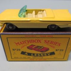 Matchbox Reg Whls 39B Pontiac Convertible Yellow / GPW / IVORY Int / BLACK Base