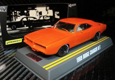 PIONEER SLOT CAR J-CODE SPECIAL 1969 DODGE CHARGER R/T SUNFIRE ORANGE TOOL TEST