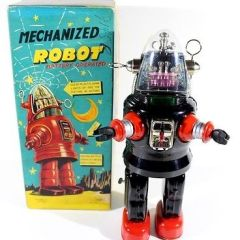 "T.N. NOMURA ""MECHANIZED ROBOT"" ROBBY THE ROBOT  VTG JAPAN MIB,HORIKAWA,ALPS"