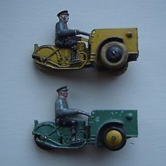TWO   DINKY TOYS  FRENCH  NO 14 14A TRIPORTEURS PRE WAR   VINTAGE  SET   1P