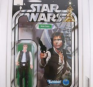 Vintage Kenner Star Wars Han Solo Small Head 12 Back-C AFA 50 VG C50/B70/F80