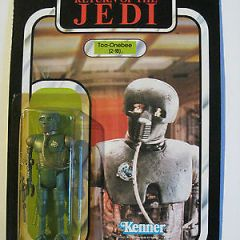 Vintage KENNER Star Wars Original 2-1B Robot 77 back UNP MOC ROTJ Return of Jedi