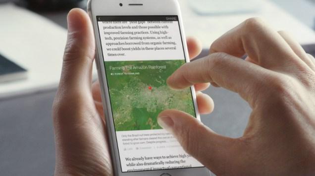 Mapa interactivo en Instant Articles.