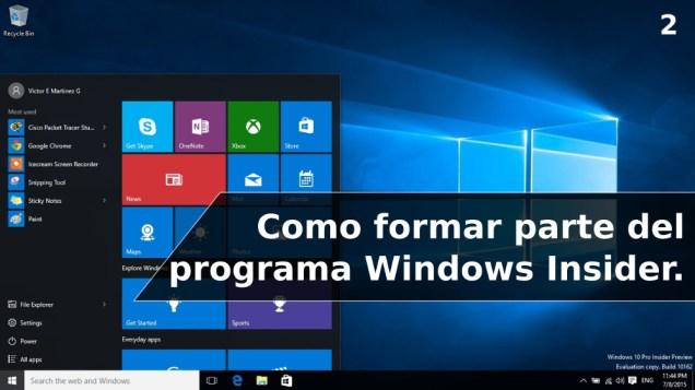 Como formar parte del programa Windows Insider
