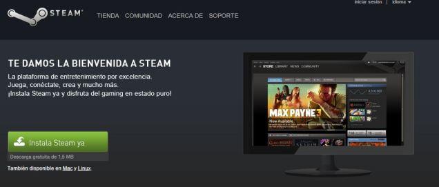 Descarga Steam para instalar Juegos gratis para PC