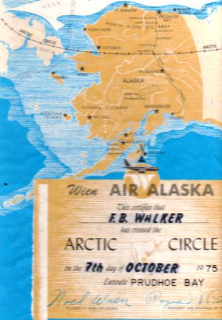 I earned this diploma the first time I crossed the Arctic circle. I had just been assigned to work in Prudhoe Bay, ALaska