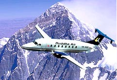 My wife and I trusted our lives to Buddha Air to fly up close and personal with Mt. Everest on a Beech 1900