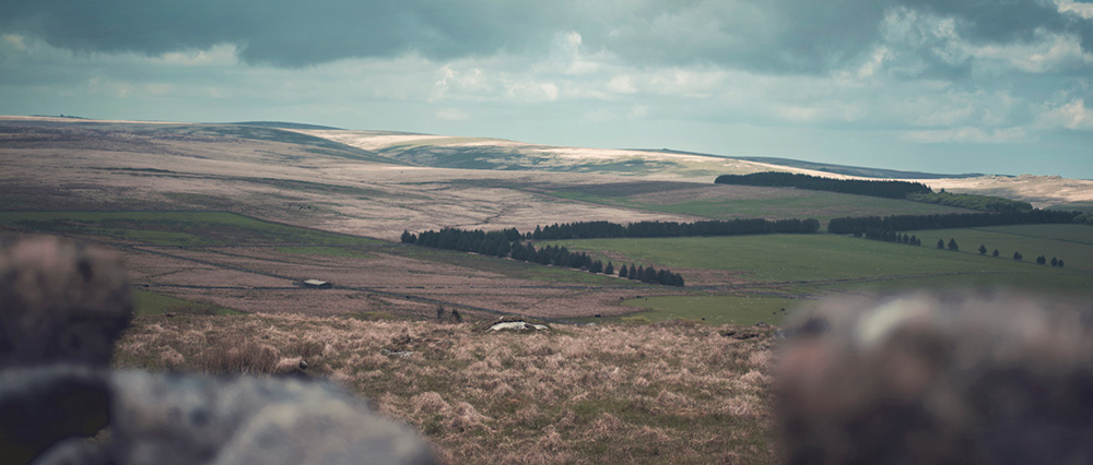 Wildcamping on Dartmoor | North Hessary Tor View