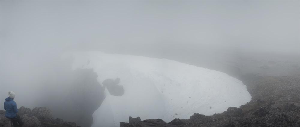 Snowy Cliff on Ben Nevis