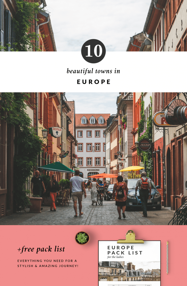 10 Beautiful Towns in Europe - The Overseas Escape