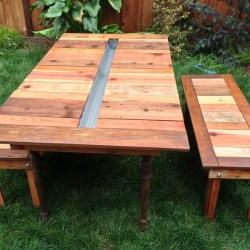 Picnic Table With Built in Cooler Plans Ch