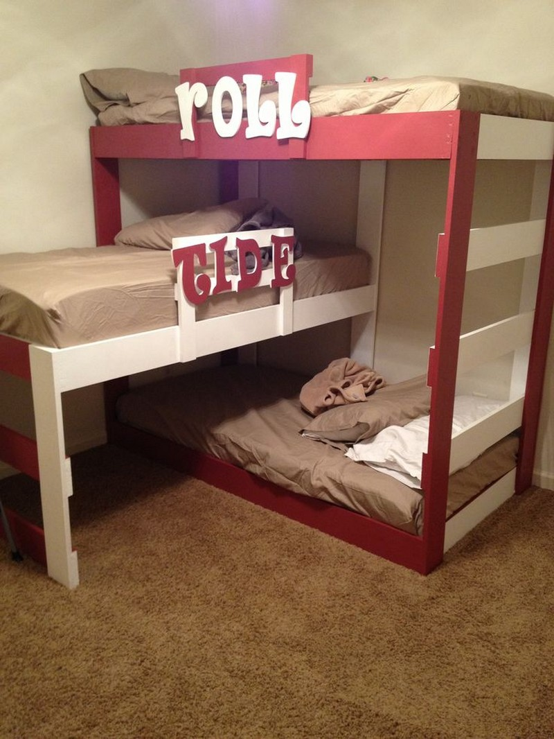 Cheery Diy Triple Bunk Bed Network Triple Bunk Bed Cheap Triple Bunk Bed L Shape houzz 01 Triple Bunk Bed