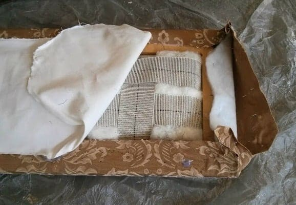 Removing Fabric Carefully to Preserve Parts