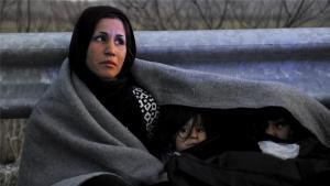 Afghan refugee woman