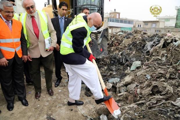 Ghani-cleaning-garbage