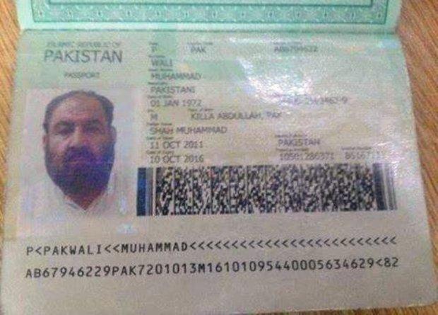 Mullah-Mansoor-Pakistani-passport