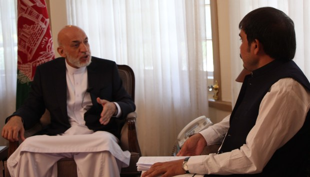 Former president of Afghanistan Hamid Karzai talks to THE PASHTUN TIMES