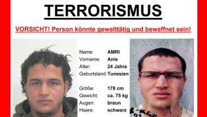 The wanted poster issued by German federal police shows 24-year-old Tunisian Anis Amri who is suspected of being involved in the fatal attack on the Christmas market in Berlin on Dec. 19, 2016. (AP)
