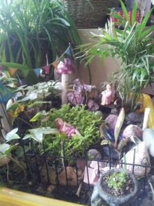 A beautiful fairy garden