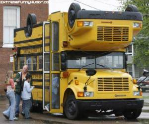 Screwed-Up School Bus