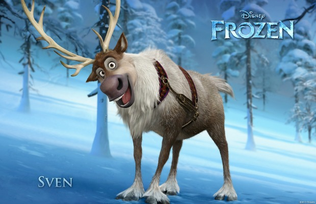 """FROZEN"" (Pictured) SVEN. ©2013 Disney. All Rights Reserved."