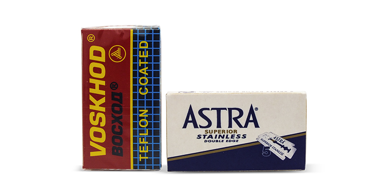 Voskhod and astra stainless Double edge razor blades