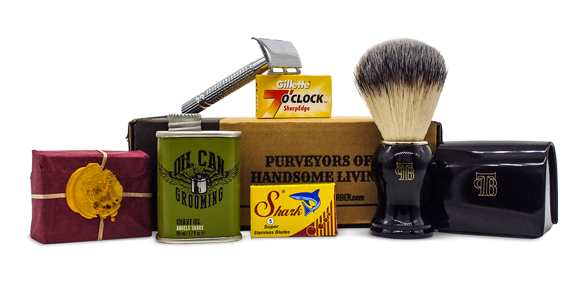 The Personal Barber classic shaving kit NovDecember19 box