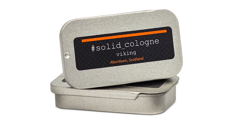 The Personal barber featured solid cologne Viking scent from Solid Cologne Project