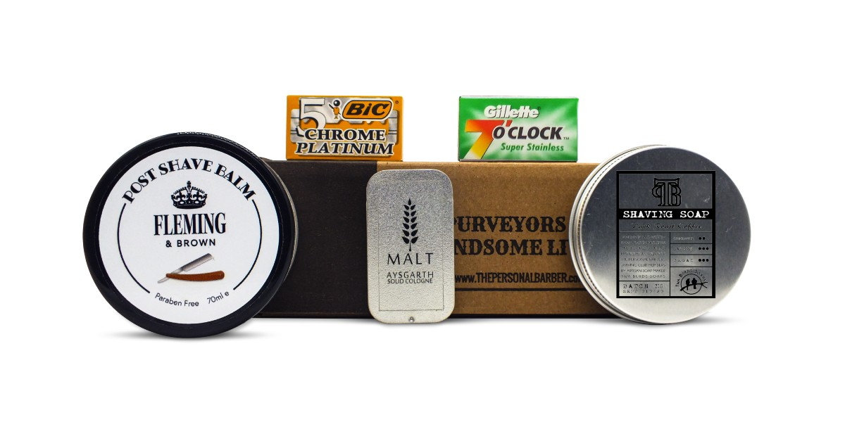 The Personal Barber OctoberNov Shaving Subscription Box