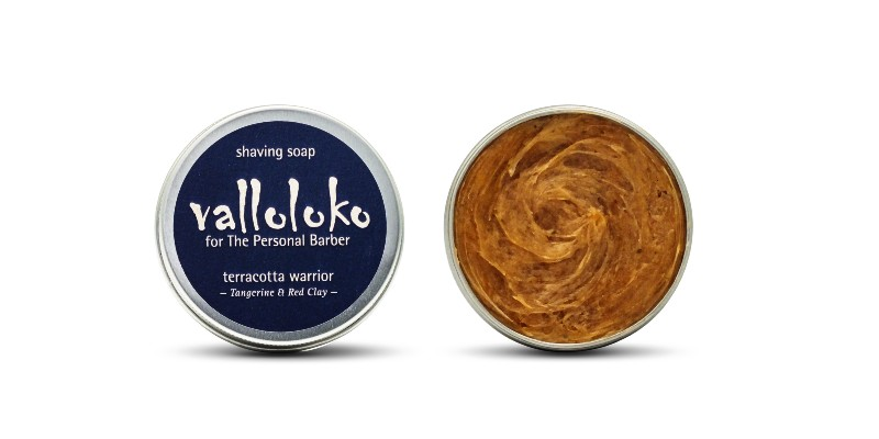 terracotta warrior shaving soap valloloko for The Personal Barber