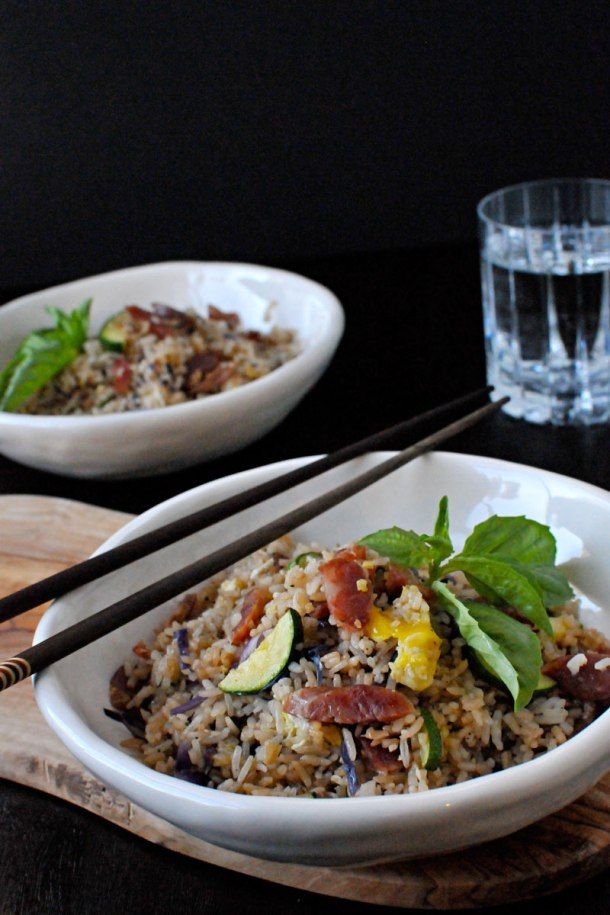 Simple Summer Fried Rice with Chinese Sausage | the pig & quill