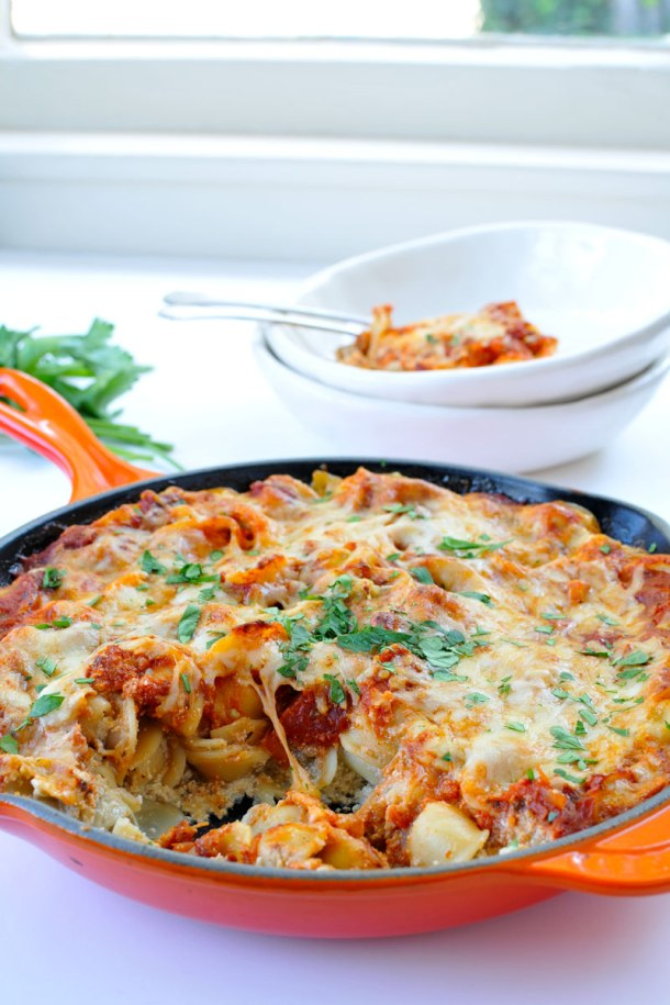 Eggplant-Ricotta Pasta Bake | the pig & quill