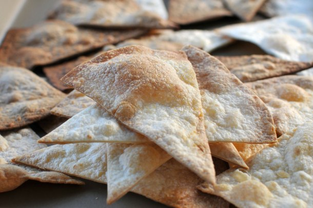 Easy Baked Tortilla Crisps (gluten-free-optional) // the pig & quill