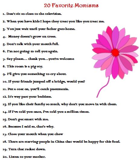 20 favorite Momisms