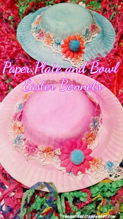 Paper Bowl & Plate Easter Bonnets