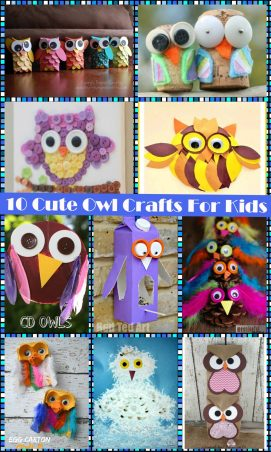 10 cute owl crafts for kids
