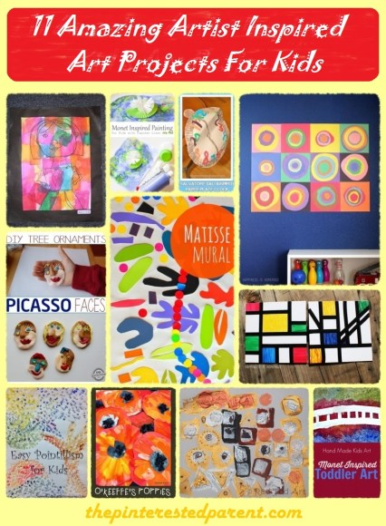 11 Amazing Artist Inspired Art Projects For Kids