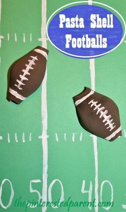 Pasta Shell Football Craft