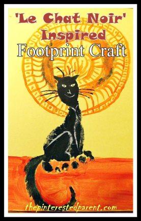 Le Cha tNoir Inspired Footprint Craft