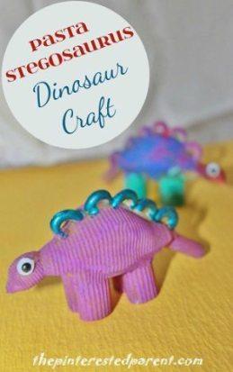 Pasta-Stegosaurus-Dinosaur-Craft