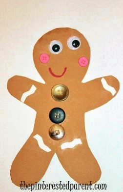Build a Gingerbread man craft for kids. Cute & easy for Christmas